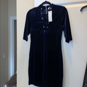 Navy blue womens dress